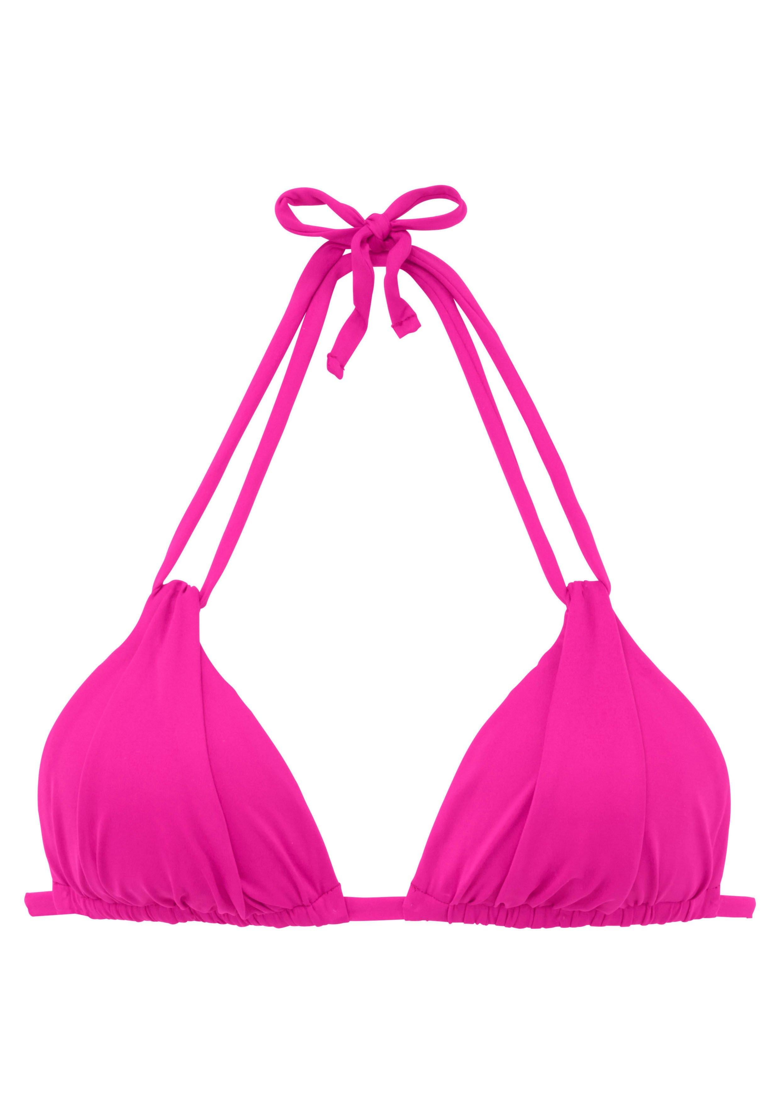 s.Oliver RED LABEL Beachwear triangel-bikinitop Spain met plooi en dubbele bandjes nu online kopen bij OTTO