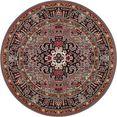 nouristan vloerkleed skazar isfahan korte pool, orint-look, woonkamer grijs