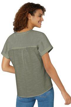 casual looks blouse zonder sluiting groen