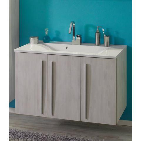 Wastafelmeubel Madeira met gietmarmeren wasbak witte badkamer onderkast 293