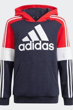adidas performance hoodie adidas essentials colorblock hoodie blauw