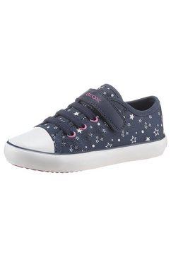 geox kids sneakers gisli girl met stijlvolle contrastdetails blauw
