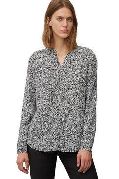 marc o'polo gedessineerde blouse zwart
