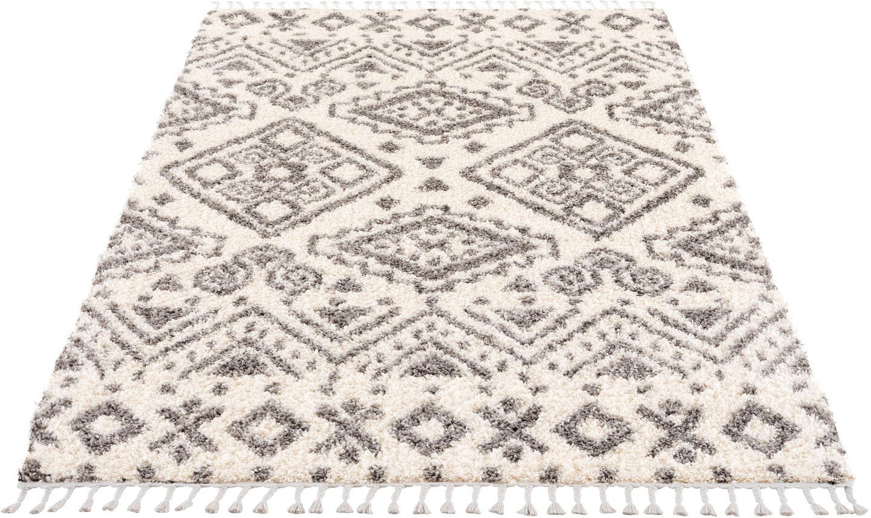 Carpet City hoogpolig vloerkleed Pulpy 541 met franje, woonkamer voordelig en veilig online kopen