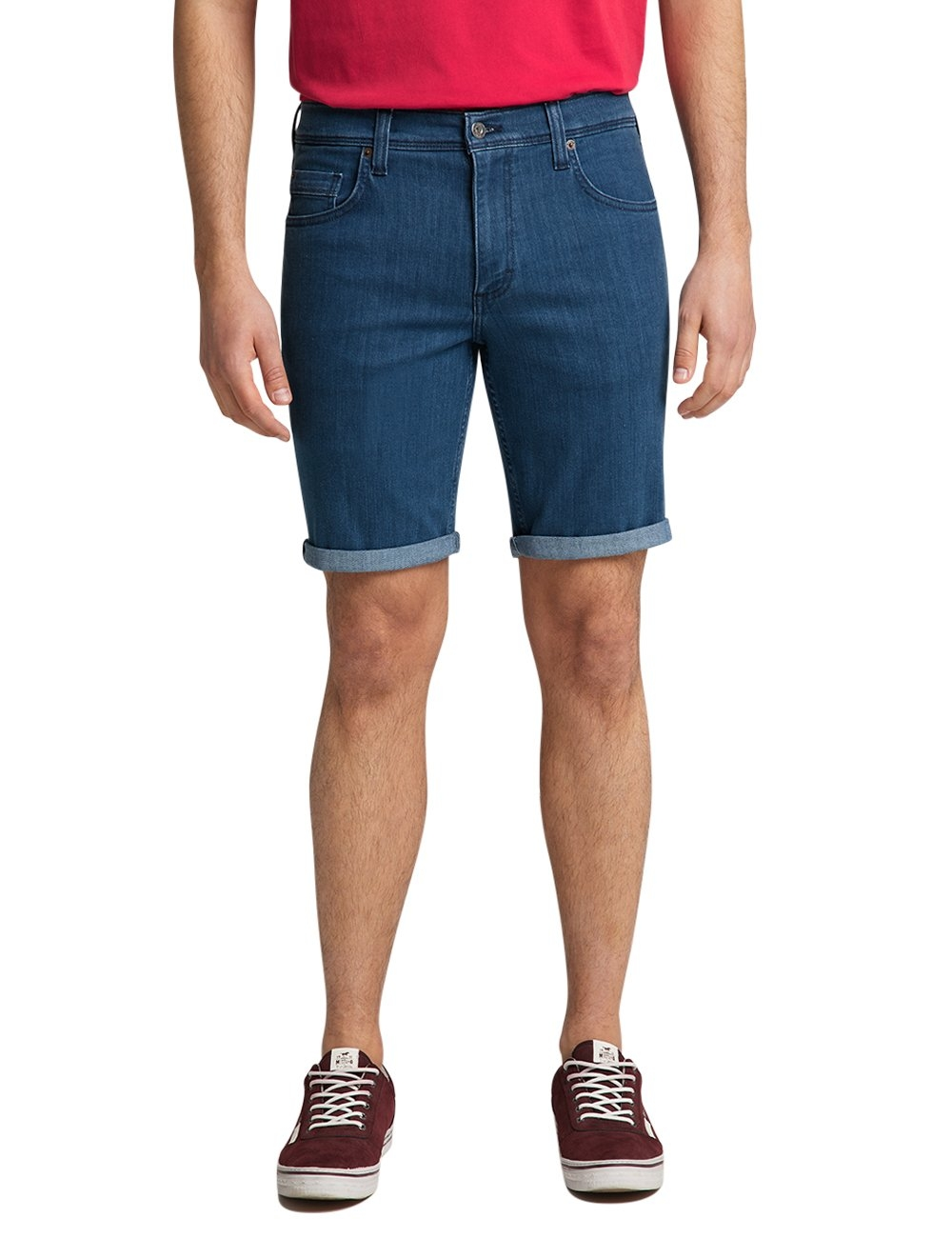 MUSTANG jeansshort Washington Shorts Elastische katoenmix nu online bestellen