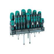 brueder mannesmann werkzeuge schroevendraaier inclusief bitset (set, 37 stuks) zilver