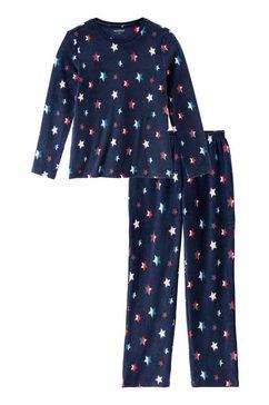 schiesser pyjama van zachte fleece blauw