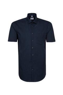 seidensticker businessoverhemd regular regular korte mouwen kentkraag uni blauw