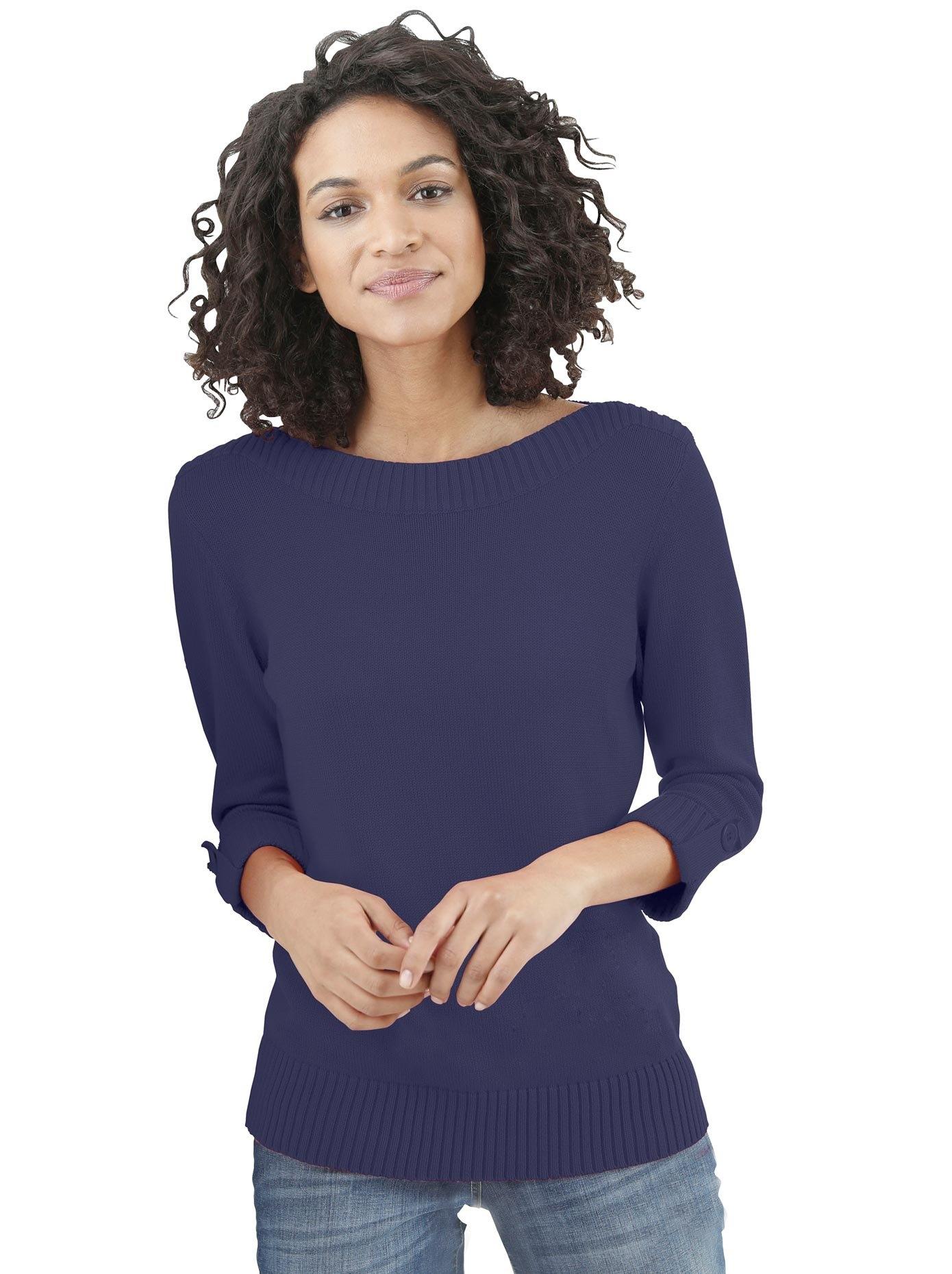 Classic Basics trui met 3/4-mouwen Trui in de webshop van OTTO kopen