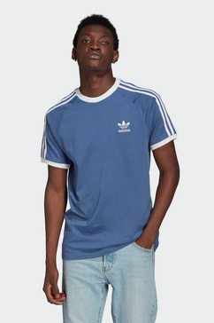 adidas originals t-shirt adicolor classics 3-stripes blauw