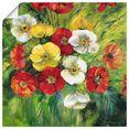 artland artprint veelkleurig bos bloemen in vele afmetingen  productsoorten -artprint op linnen, poster, muursticker - wandfolie ook geschikt voor de badkamer (1 stuk) groen
