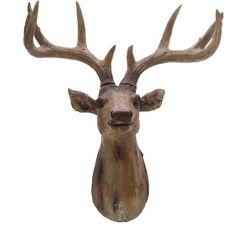 decoratief gewei gemaakt van polyresin, hoogte ca. 57 cm bruin
