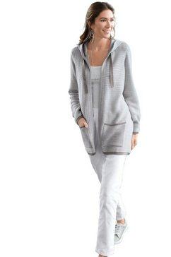 classic basics vest in open model grijs