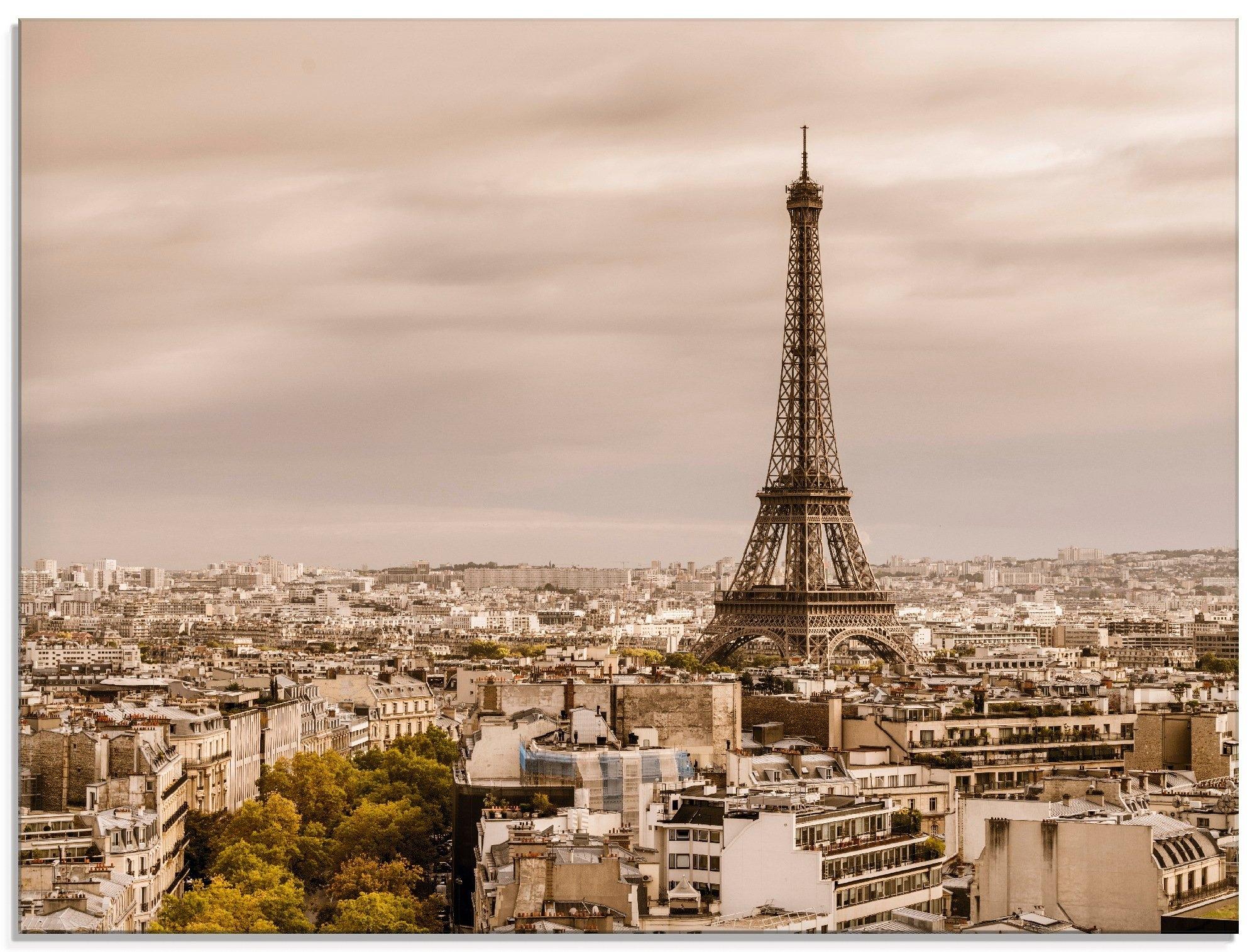 Artland print op glas Parijs Eiffeltoren I (1 stuk) in de webshop van OTTO kopen