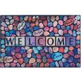 my home mat welcome stenen inloopmat, met quote, geschikt voor binnen en buiten multicolor