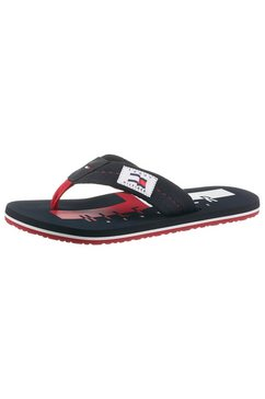 tommy hilfiger teenslippers »hilfiger badge beach sandal« blauw