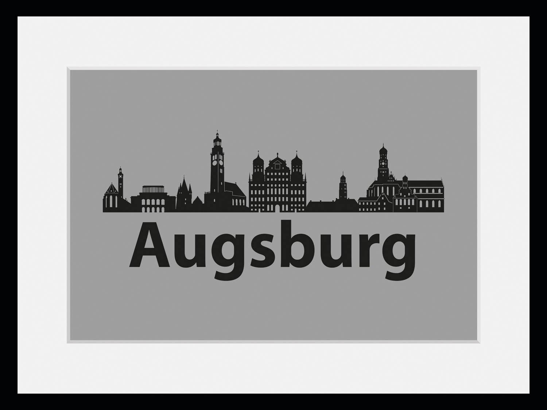 queence wanddecoratie Augsburg skyline (1 stuk) bij OTTO online kopen