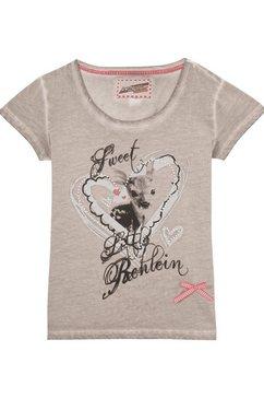 andreas gabalier collectie folklore-damesshirt met glinstersteentjes grijs