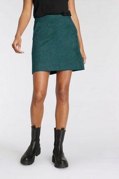 tamaris imitatieleren rok groen