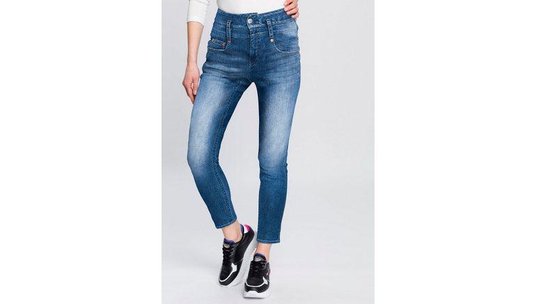 Herrlicher high-waist jeans PITCH HIGH CONIC ORGANIC milieuvriendelijk dankzij kitotex technology
