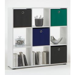 fmd room divider mega 5 met 9 vakken wit