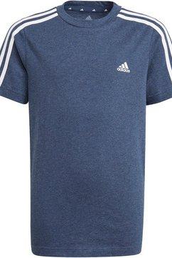 adidas performance t-shirt »adidas essentials 3-streifen« blauw