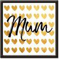 artland artprint gouden harten voor mama (1 stuk) goud
