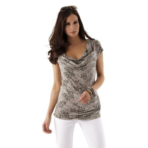 ANISTON Shirt met cascadehals