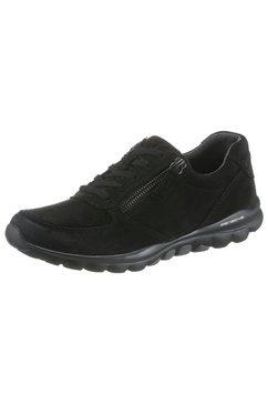 gabor rollingsoft sneakers met sleehak in hoogwaardige afwerking zwart