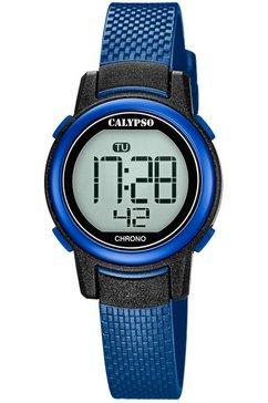 calypso watches chronograaf digital crush, k5736-6 blauw