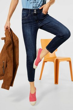cecil slim fit jeans stijl toronto met licht used effect blauw