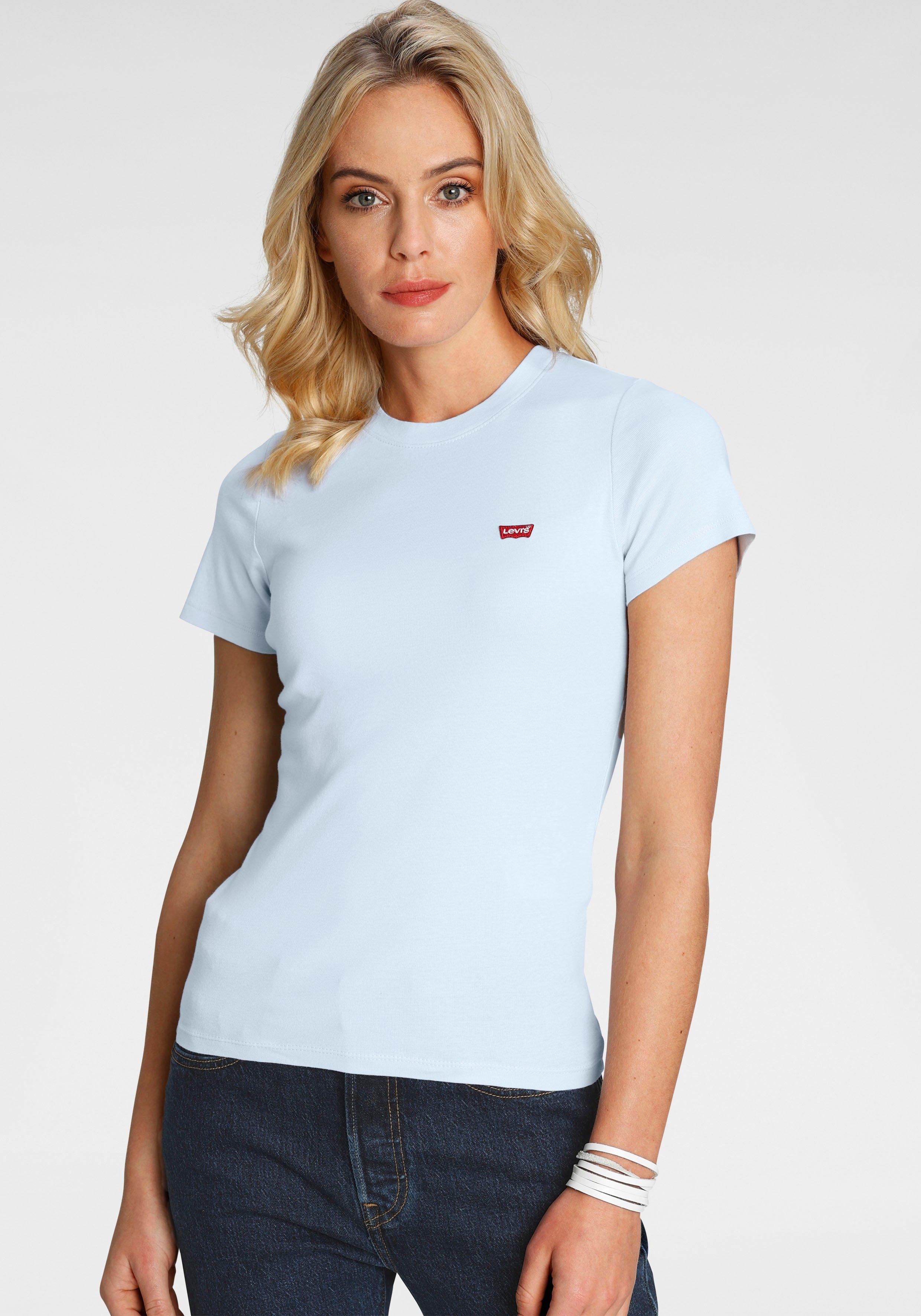 Levi's T-shirt Rib Baby Tee met batwing-logoborduursel - verschillende betaalmethodes