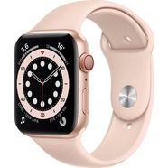 apple watch series 6 gps + cellular, aluminium kast met sportbandje 44 mm inclusief oplaadstation (magnetische oplaadkabel) roze