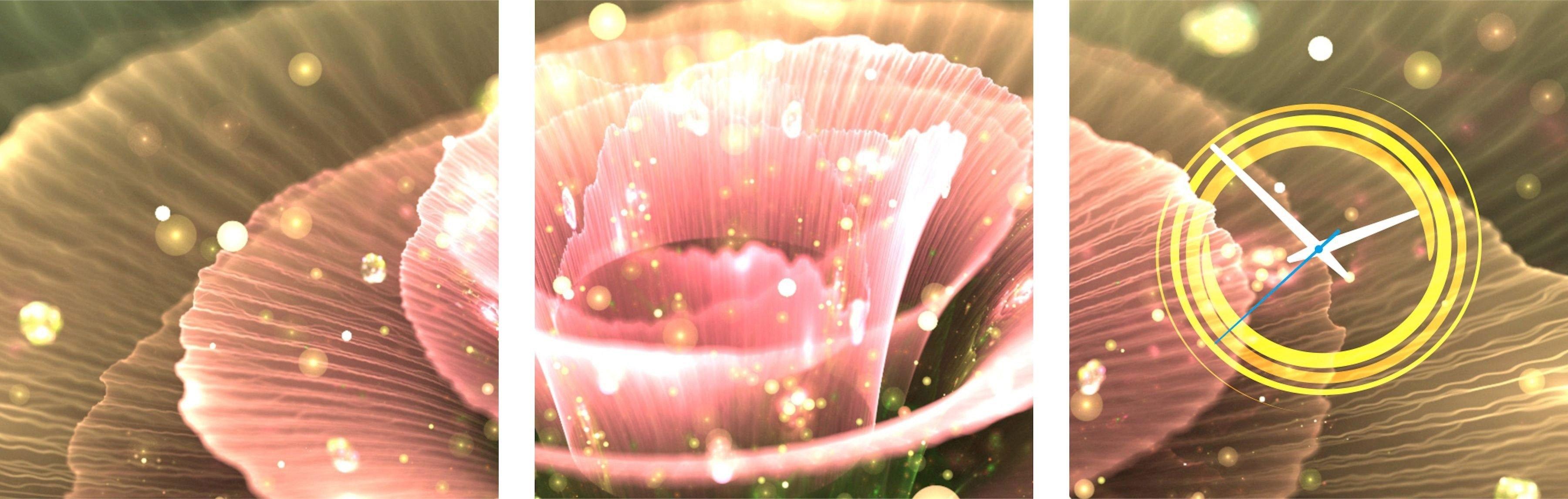 Conni Oberkircher´s wanddecoratie Diamant Flower met decoratieve klok (set) nu online bestellen
