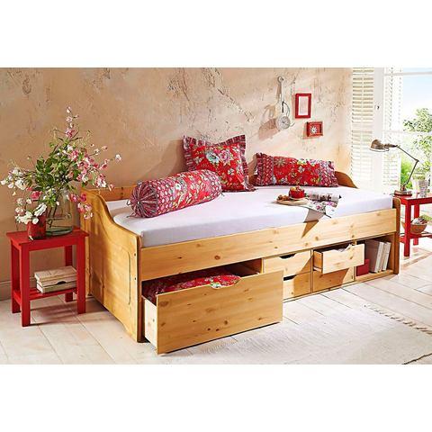 HOME AFFAIRE Bed van massief grenenhout geloogd/geolied beige 314445