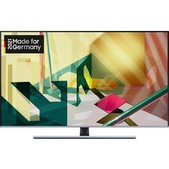 samsung gq75q75t qled-televisie (189 cm - (75 inch), 4k ultra hd, smart-tv zwart