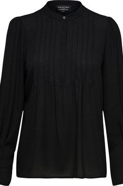 selected femme crêpe-blouse »slflivia« zwart
