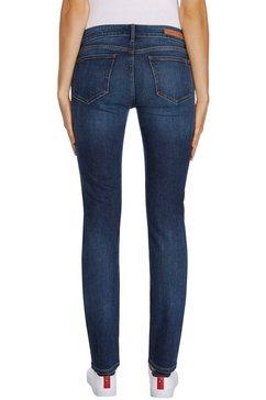 tommy hilfiger slim fit jeans heritage milan slim lw met tommy hilfiger-logobadge blauw