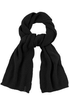 h.i.s gebreide sjaal met ribboord zwart