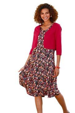 classic basics gedessineerde jurk jurk rood