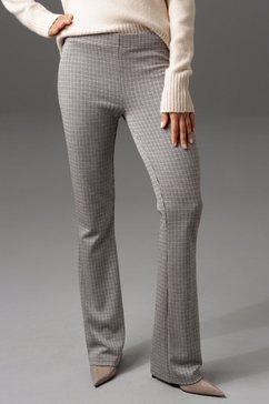 aniston casual legging met uitlopende pijpen - nieuwe collectie beige