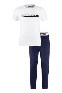 jack  jones pyjama met shirt met korte mouwen blauw