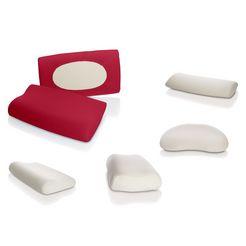schlafgut kussenovertrek nackenstuetzkissen geschikt voor alle maten (1 stuk) rood