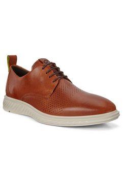 ecco sneakers st.1 hybrid lite met stijlvolle perforatie bruin