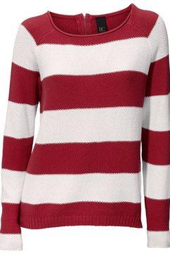 heine trui met ronde hals gestreept rood