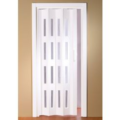 klapdeur luciana bxh: tot 88,5x202 cm, in te korten, raam met ribbelstructuur wit