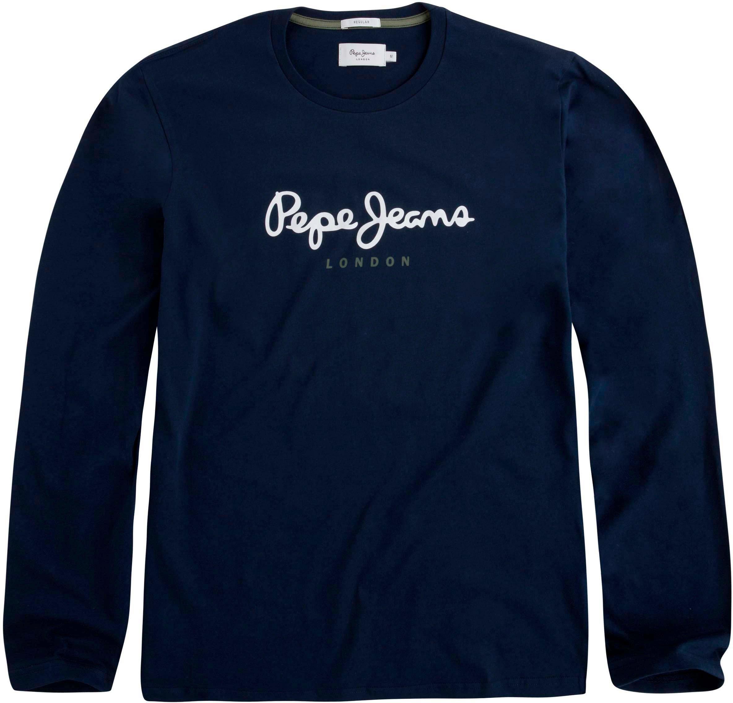 Pepe Jeans shirt met lange mouwen »EGGO LONG« nu online kopen bij OTTO