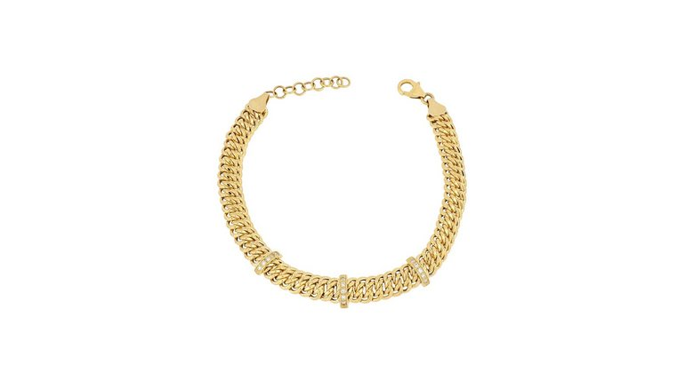 Firetti goudkleurige armband met zirkoon (synthetisch)
