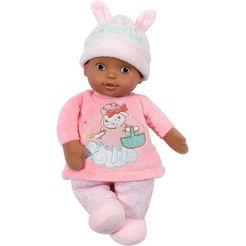 baby annabell babypop sweetie for baby, dolls of colour, 30 cm met rammelaar aan de binnenkant roze