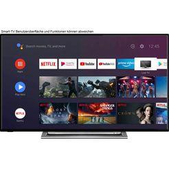 "toshiba led-tv 55ua3a63dg, 139 cm - 55 "", 4k ultra hd, smart-tv, hdr, android tv zwart"